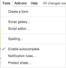 Google Spreadsheet Notification Rules