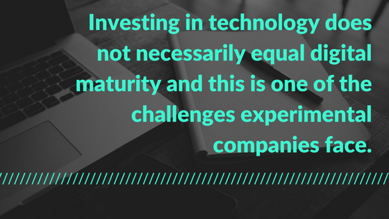 Investing in Technology does not necessarily equal digital maturity.