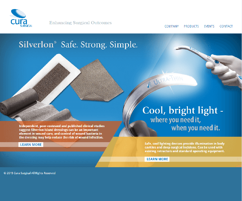 Screenshot of Cura Homepage