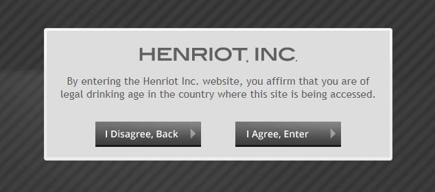 Screenshot of age verification