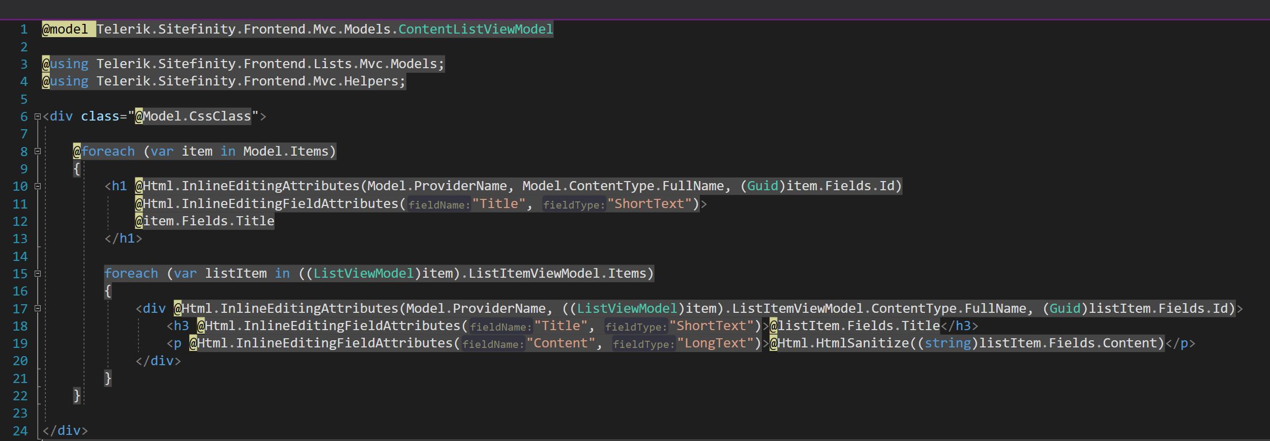 Inline Editing  Code Bloat