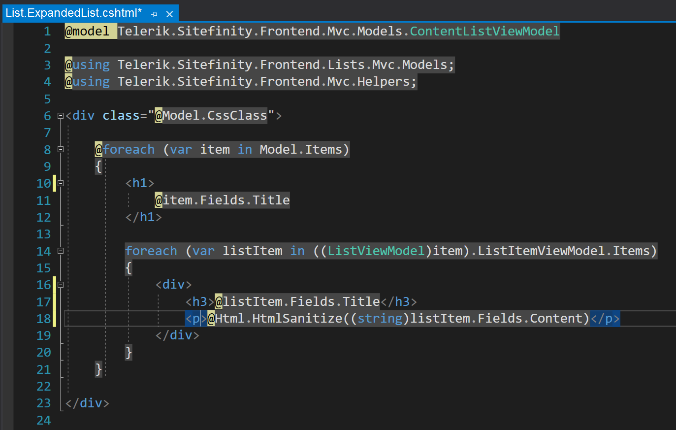 Inline Editing Stripped from Code